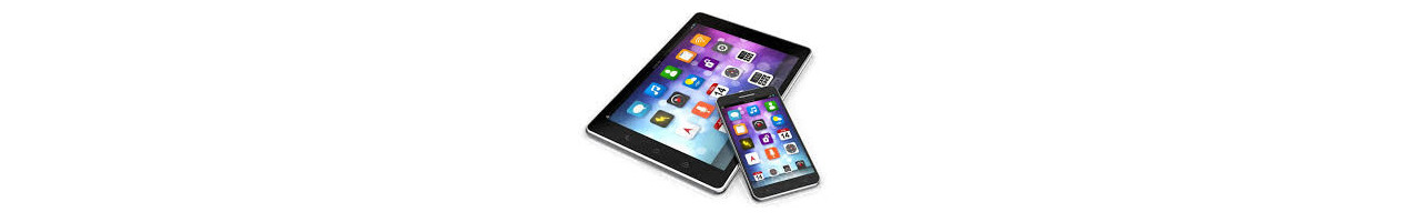 Tablets og mobiltelefoner. Med windows, android og IOS styresystemer.